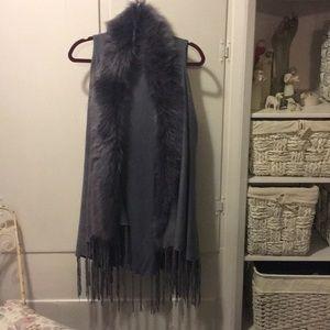 Jackets & Blazers - Faux Fur Fringe Vest
